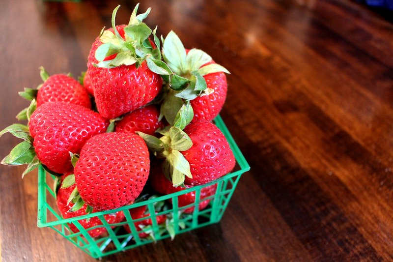 Enjoy the ruby red deliciousness of fresh strawberries