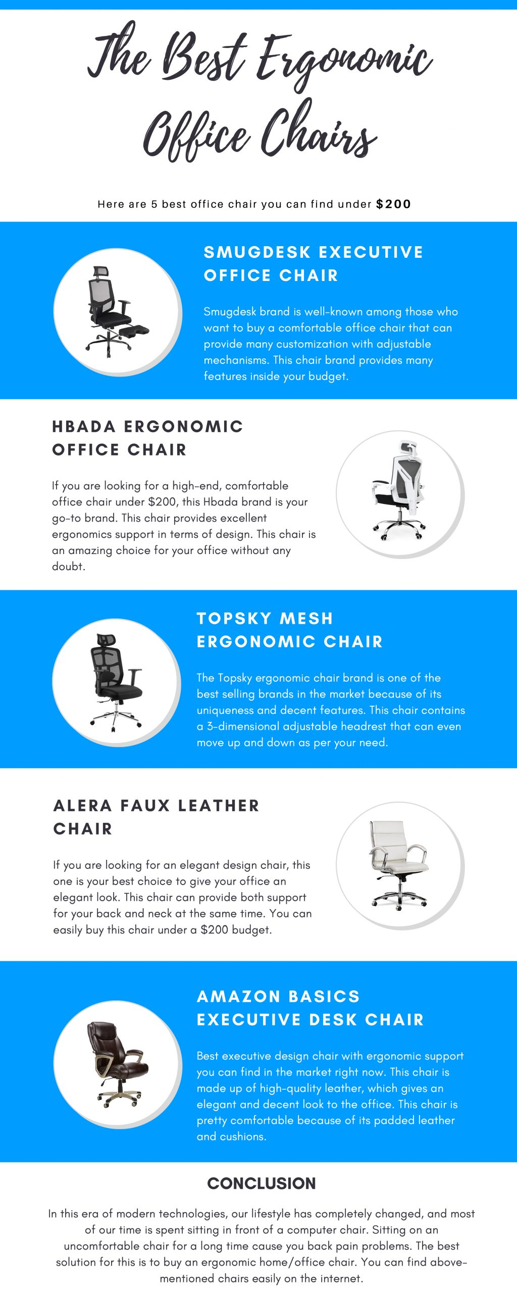 image - The Best Ergonomic Office Chairs [Infographic]